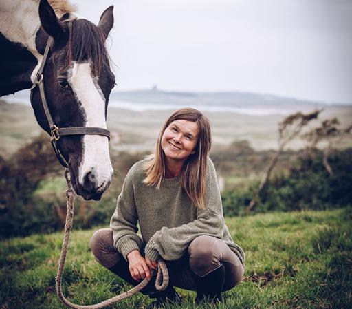 Uschi von Island View Riding Stables mit ihrem Pferd